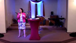 Lady Nina Sims preaches on Mother's Day @ True Worship Church 5/14/17.