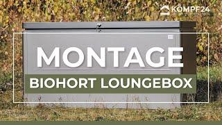 Aufbau Biohort LoungeBox