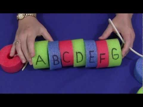 Screenshot of video: Alphabet/ Numerical order using a swimming noodle