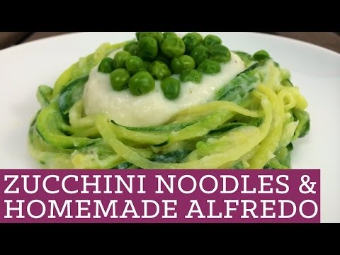 Video Zucchini Noodles and Healthy Alfredo Sauce - Mind Over Munch Episode 25