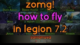 How to Fly & Class Mounts in Legion 7.2