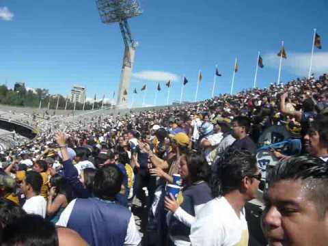 """""""CARSC La banda del Pebetero  Pumas - Tecos 14-feb-10"""" Barra: La Rebel • Club: Pumas"""