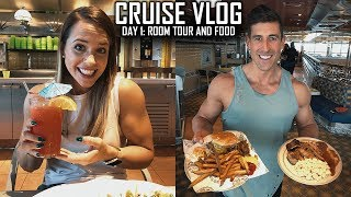 Carnival Valor Cruise Day One - Honeymoon - Embarkation, Balcony Room Tour, Lots of Eating