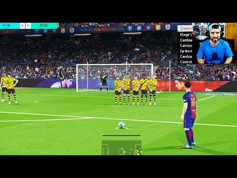 PES 2018 DEMO PS4 GAMEPLAY - BARCELONA VS BORUSSIA DORTMUND