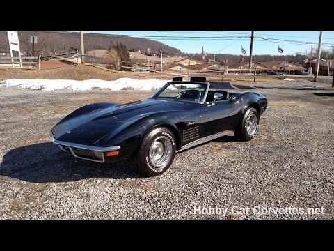 1971 Triple-Black Corvette Stingray Convertible For Sale Video