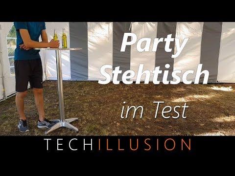 🛠Stehtisch / Partytisch / Bistrotisch aus Aluminium im Test - Review & Test