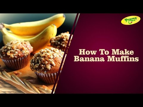 How To Make Banana Muffins || Winter Special (For Childrens) || Bharathi's Kitchen || YummyOne