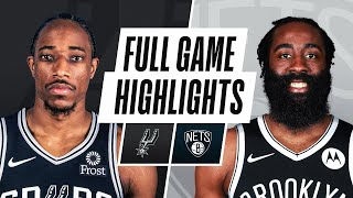 SPURS at NETS | FULL GAME HIGHLIGHTS | May 12, 2021