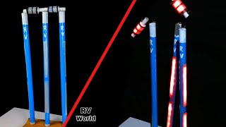 How To Make Cricket LED Stumps & Bails At Home | School Science Project |