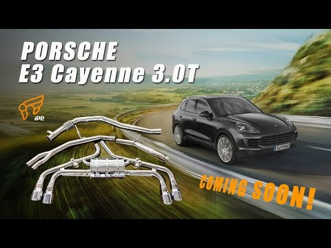 The iPE Exhaust for Porsche Cayenne E3 3.0T