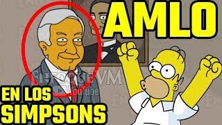 AMLO en los Simpsons NUEVAS IMÁGENES 2018