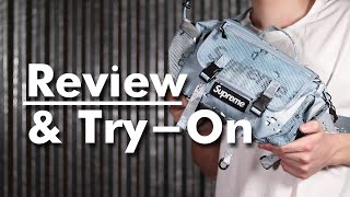 Supreme SS20 Waist Bag Review And Try-On | Blue Camo
