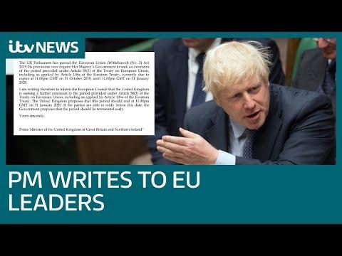 Boris Johnson tells EU leaders Parliament wants Brexit delay - but he doesn't | ITV News