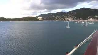 preview picture of video 'Charlotte Amalie, St. Thomas, USVI - Jewel of the Seas Arrival HD (2015)'