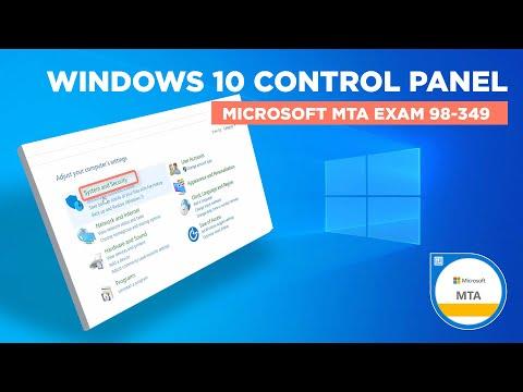 Windows 10 Control Panel - Microsoft MTA Exam 98-349 - YouTube