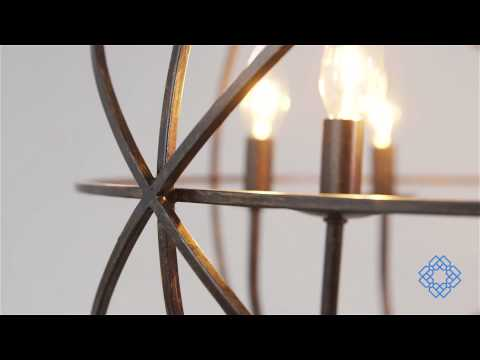 Video for Solaris English Bronze Six-Light Chandelier