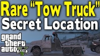 "GTA 5 - RARE ""TOW TRUCK"" LOCATION (Rare Car Guide #10) [GTA V]"