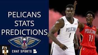 New Orleans Pelicans Stat Predictions For 2019-20 NBA Season: Zion WIlliamson, Lonzo Ball +6 More