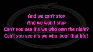 Miley Cyrus - We Can't Stop (Lyrics) [HD]