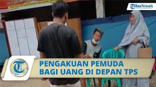 Viral Video Pemuda Bagi-bagi Uang di Depan TPS di Tuban, Pembuat Video Beri Pengakuan