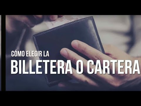Cómo elegir una cartera o billetera para hombre