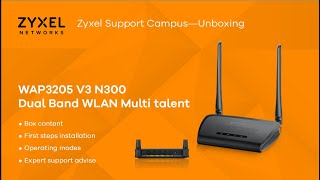 Multitalent ZYXEL WAP3205 V3 N300 Access Point, Repeater and Client, Unboxing & Initial Setup [EN]