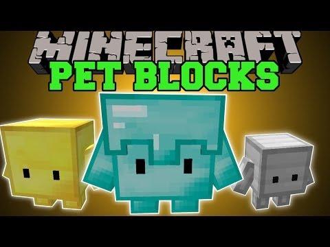 Minecraft: PETS BLOCKS (LEVEL THEM AND EVOLVE THEM!) Mod Showcase