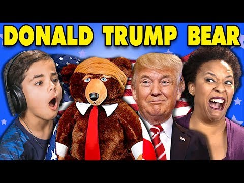 GENERATIONS REACT TO DONALD TRUMP TEDDY BEAR?! (TRUMPY BEAR)