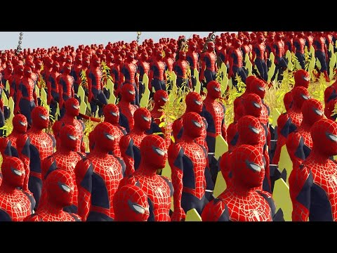 SPIDERMAN AVENGER VS SUPERMAN - MARVEL VS DC - MASSIVE SUPERHEROES BATTLE