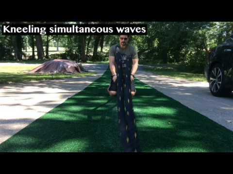 Battling Ropes Kneeling Simultaneous Waves