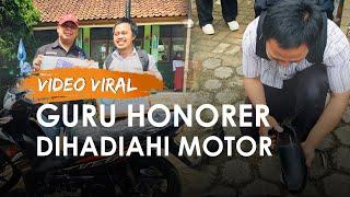 Video Viral Guru Honorer dengan Sepatu Bolong Kini Dihadiahi Motor dan Sepatu Baru oleh Relawan