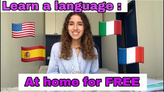HOW TO LEARN A LANGUAGE FOR FREE ┋ How to learn a second language for free at home// Just A Teenager
