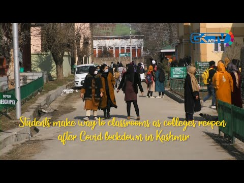 Students make way to classrooms as colleges reopen after Covid lockdown in Kashmir