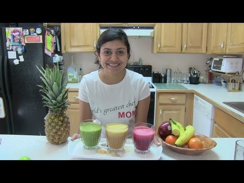 Video Summer Diet - Homemade Fresh Fruits & Vegetables Juices Recipe Video by Bhavna