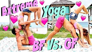 Couple Yoga Challenge Extreme! BF Vs. GF