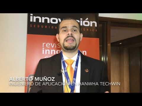 Alberto Muñoz, Ingeniero de Aplicación en Hanwha Techwin, en el Encuentro Tecnológico ALAS Buenos Aires 2019