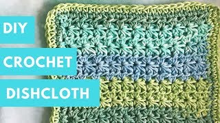 Crochet Dishcloth Tutorial || Star Stitch Tutorial || Beginner