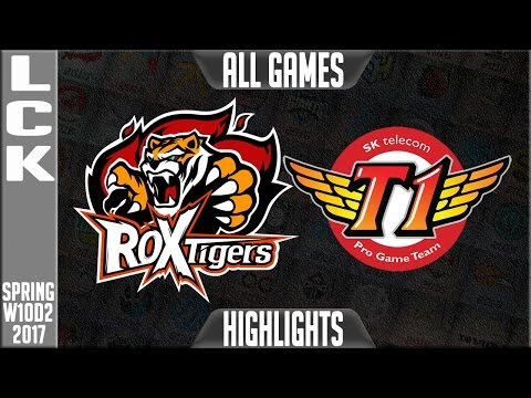 ROX Tigers vs SKT Highlights All Games - LCK W10D2 Spring 2017 ROX vs SKT All Games