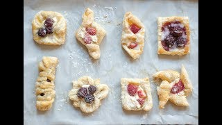 Danish Pastry Shapes - How Many Ways To Shape Cream Cheese  Puff Pastry Danishes?