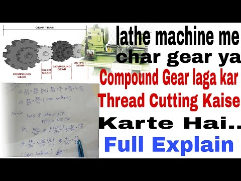 Download Thread Cutting On Lathe Machine In Hindi Video 3GP Mp4 FLV