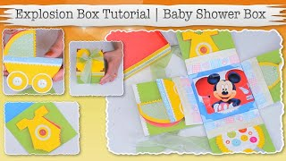 DIY - Baby Shower Gift Card Box | Baby Shower Explosion Gift Box | Baby Shower Gift Box Ideas