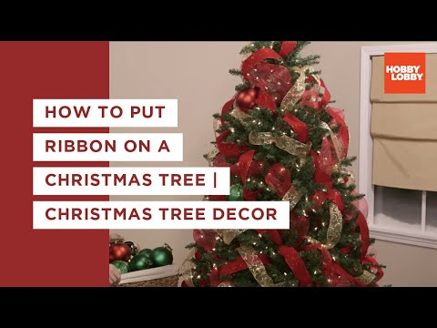 How to put Ribbon on a Christmas Tree