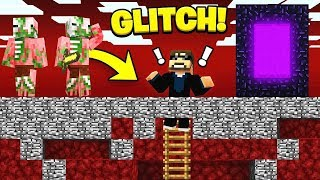 GLITCHED BEDROCK in Hardcore Minecraft