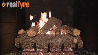 Peterson RealFyre Rustic Oak Designer on G45 Burner