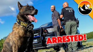 YOUTUBER ARRESTED! Busted by K-9 after Making Video!