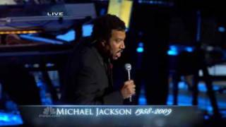 Lionel Richie sing ' Jesus Is Love ' at Michael Jackson's public memorial