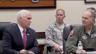 VP Pence Meets With Troops At Yokota Base In Japan