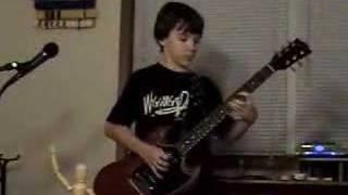 13 year old kid plays AC/DC Riff Raff