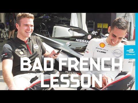 How to speak French, with Sebastien Buemi and Oliver Rowland! | ABB FIA Formula E Championship