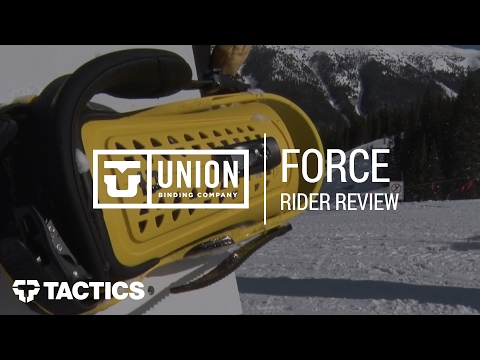 Union Force 2018 Snowboard Binding Rider Review – Tactics.com